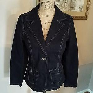 Motto small Black Jean Jacket